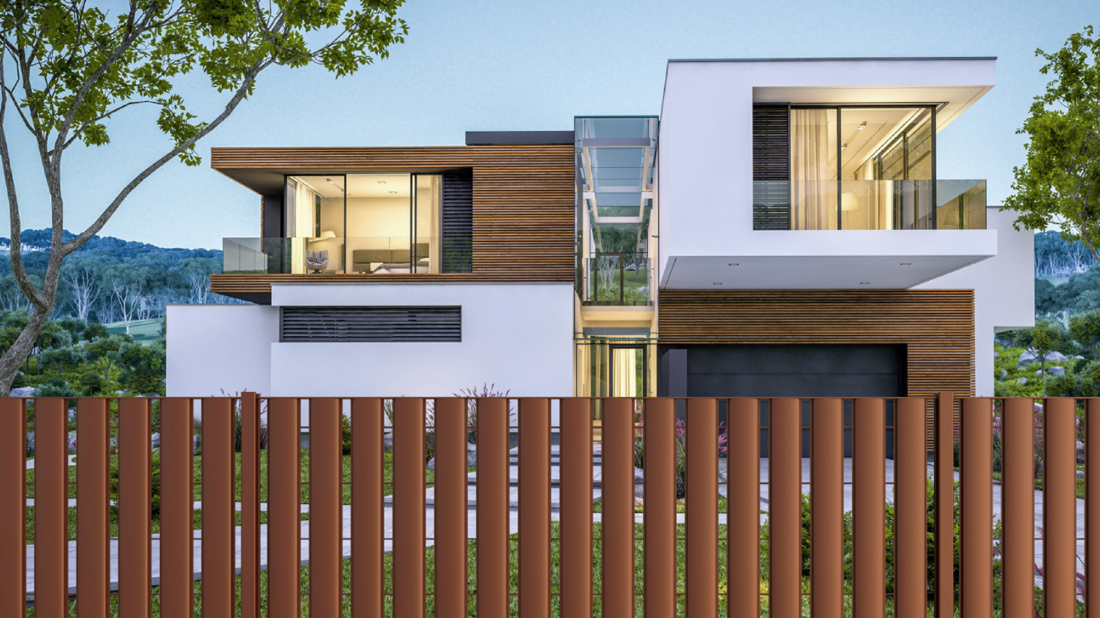 Cancelli e recinzioni - Modello Linear piano verticale