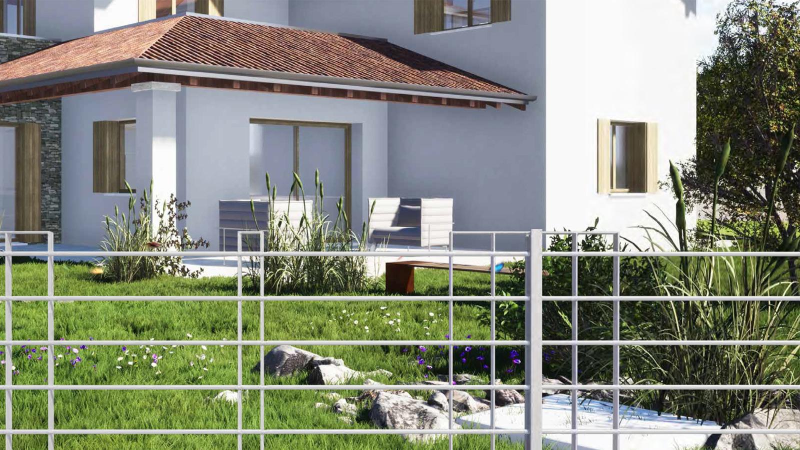 Cancelli e recinzioni - Modello Vulcano orizzontale con piantane