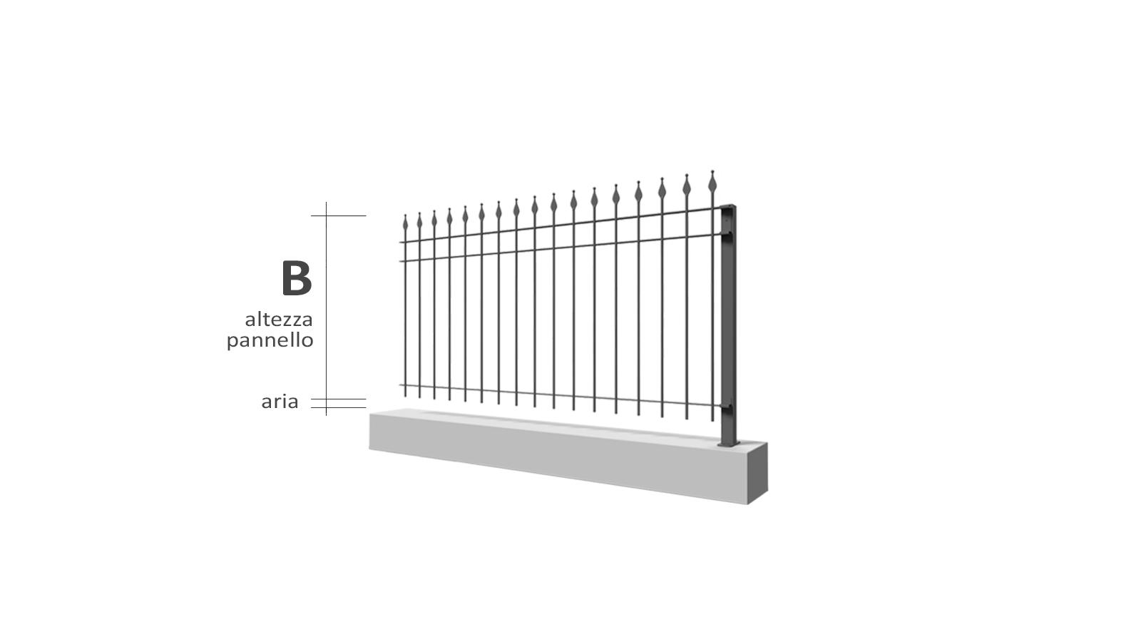 Cancelli e recinzioni - Modello Vulcano freccia